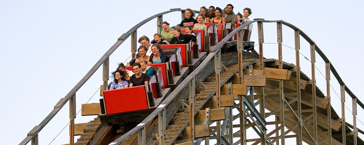 High Speed Roller Coasters As Presented By Meadowbrook Resort & Dells Packages In Wisconsin Dells
