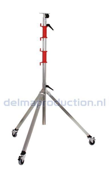 3-parts mobile tripod stand, quick change system with