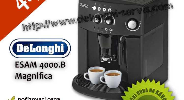 Repasovaný espresso automatický kávovar DeLonghi ESAM 4000.B Magnifica