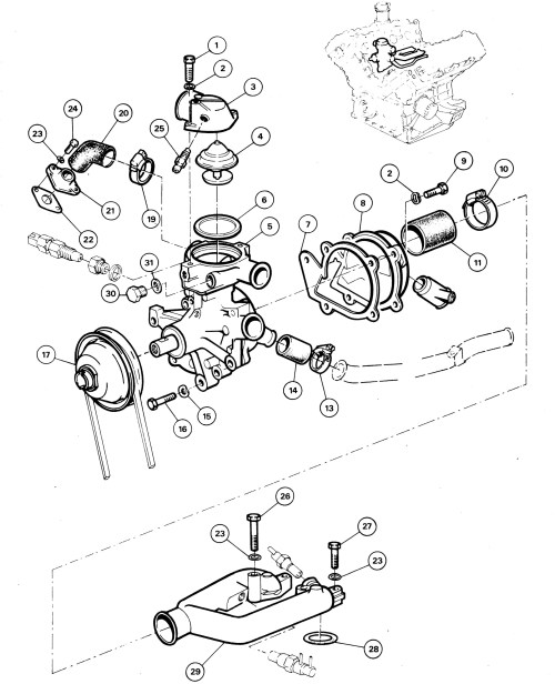 small resolution of 1 3 0 water pump