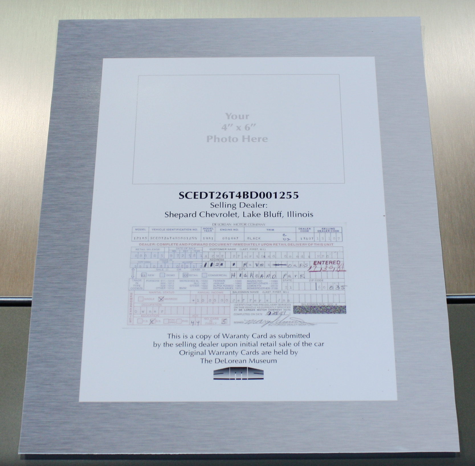 warranty registration card test limited lifetime warranty registration card. Warranty Card Takes 3 4 Weeks To Be Shipped
