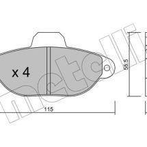 Fiat punto komplet plocica za disk kocnice