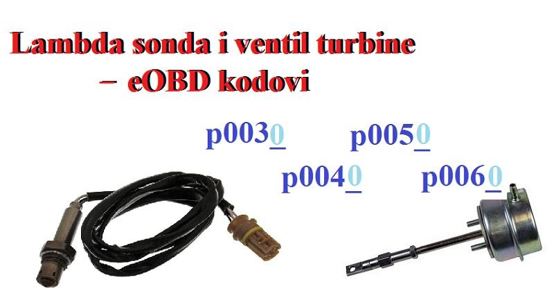 Lambda sonda i ventil turbine – eOBD kodovi