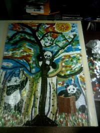 Panda Mosaic Table - Delphi Artist Gallery