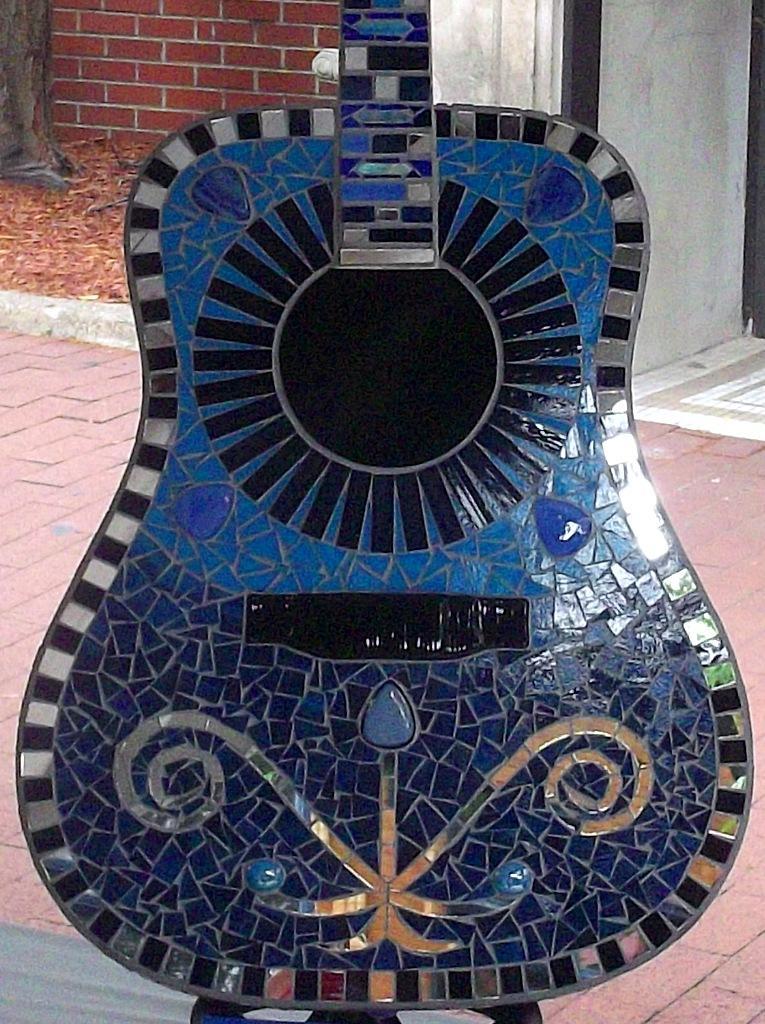 Mosaic Glass Guitar Delphi Artist Gallery