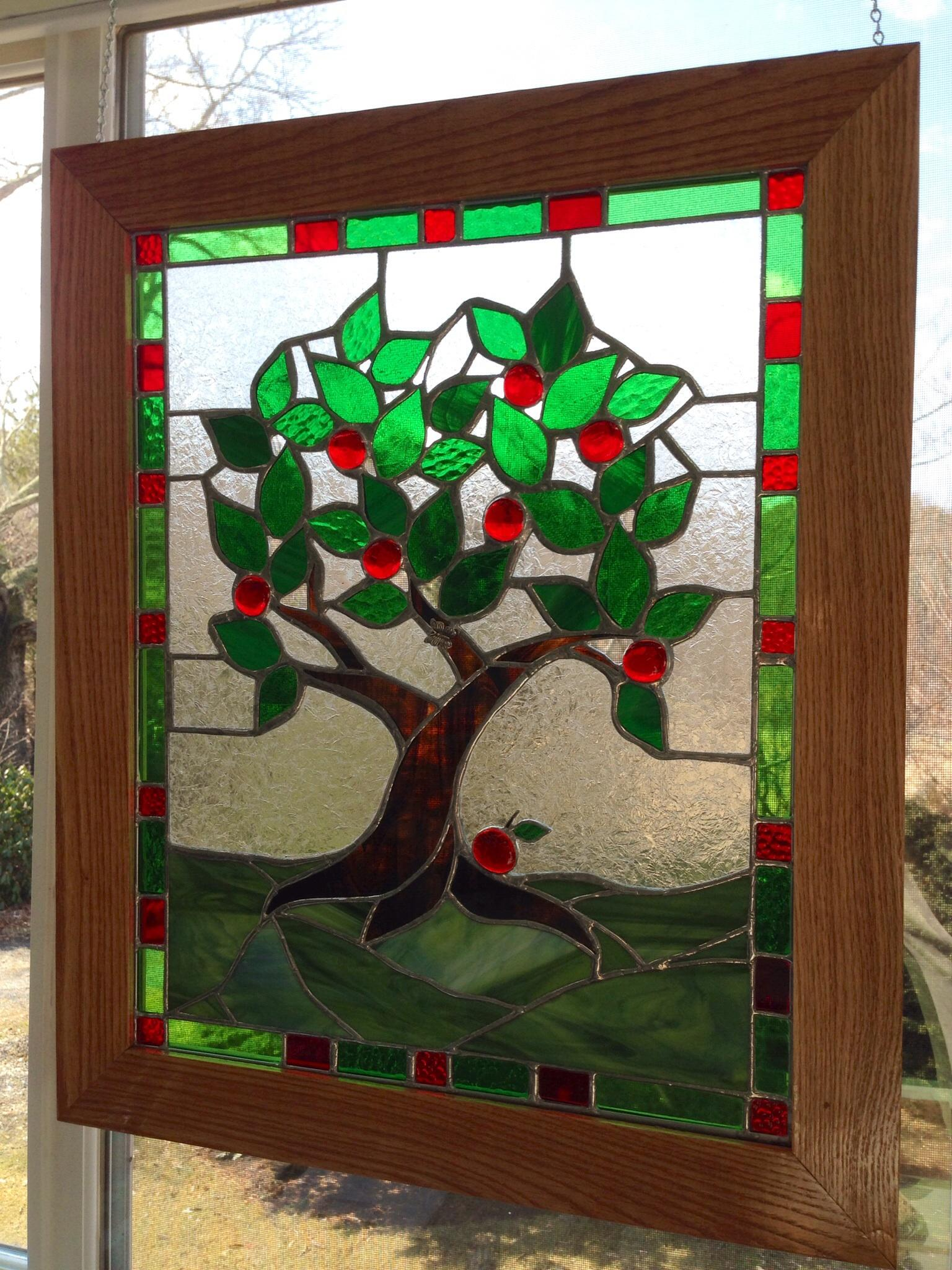 Apple Time Stained Glass Panel  Delphi Artist Gallery