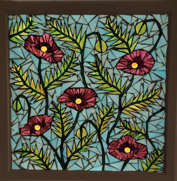 Poppy Stained Glass Window Pattern