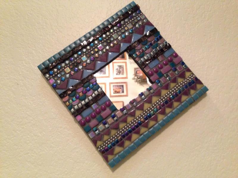 Mosaic Mirror Frame - Delphi Artist