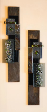 Contemporary Fused Glass And Metal Wall Art - Delphi ...