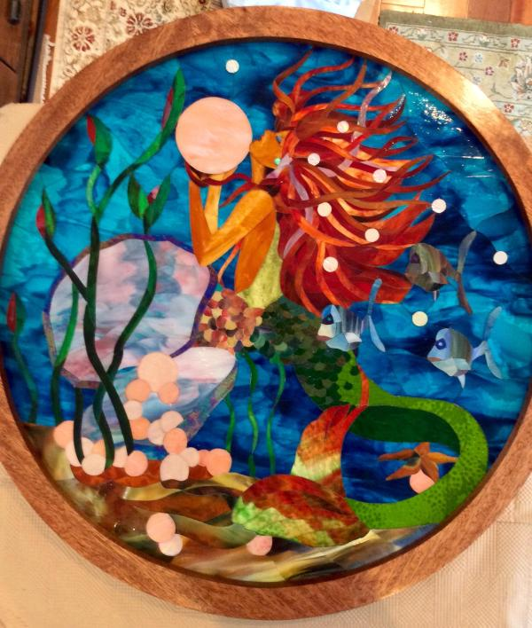 Mermaid Stained Glass Mosaic