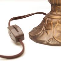 "5"" Tiny Lily Lamp Base | Small Bases Stock Delphi Glass"