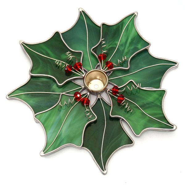 Pre-cut Holly Candle Holder Kit Home Decor Votive