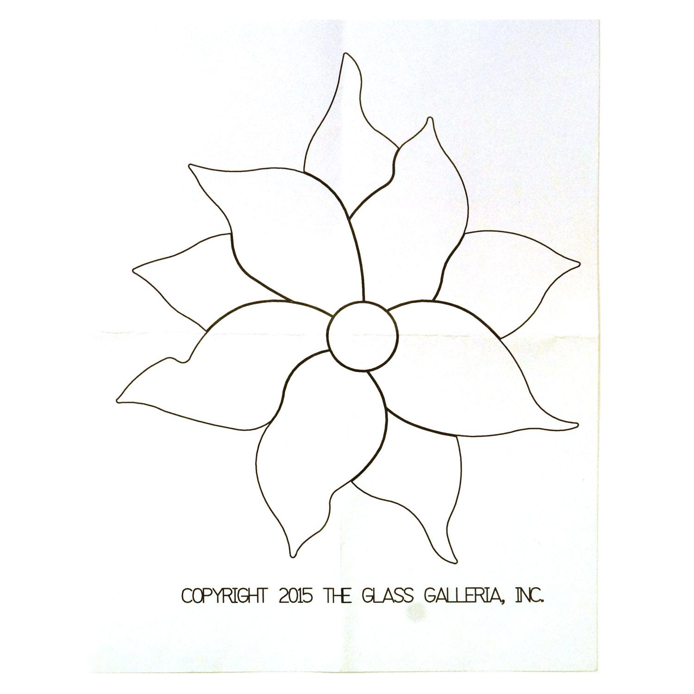 Poinsettia Flower Fusible Pre Cut