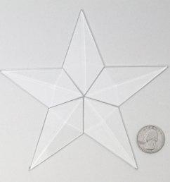 small barn star bevel cluster [ 1500 x 1500 Pixel ]