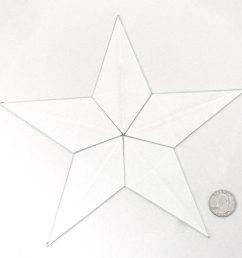 large barn star bevel cluster [ 1500 x 1500 Pixel ]