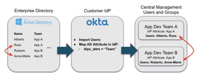 diagram idp delphix