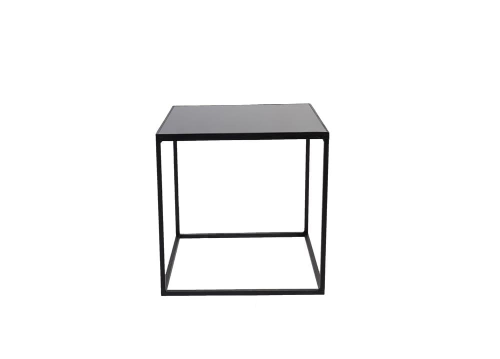 black iron square coffee table 18 x 18 x 18 high
