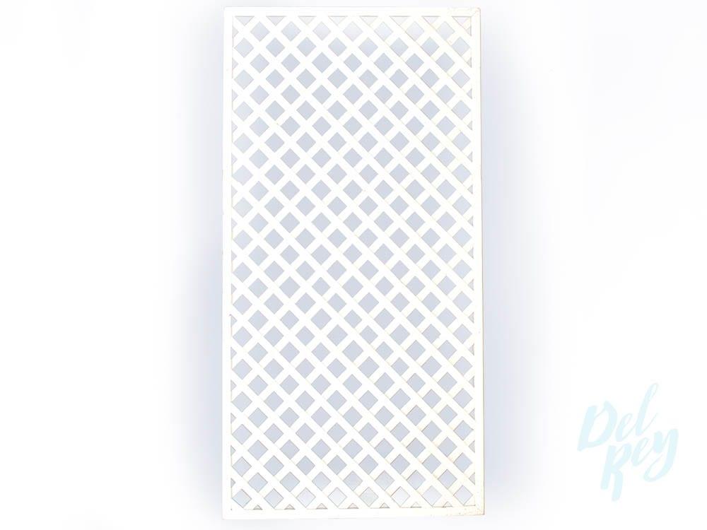 4 x 8 White trellis  Del Rey Party Rentals
