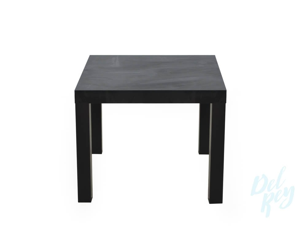 black square end table