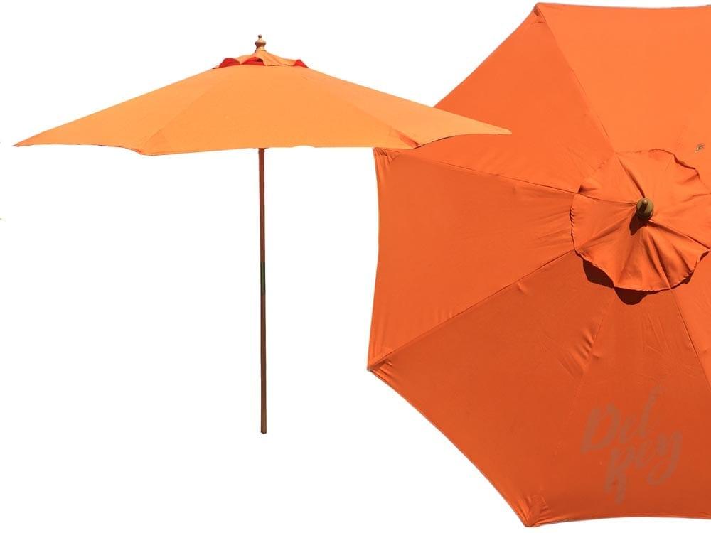 Orange Market Umbrella 9FT  Del Rey Party Rentals
