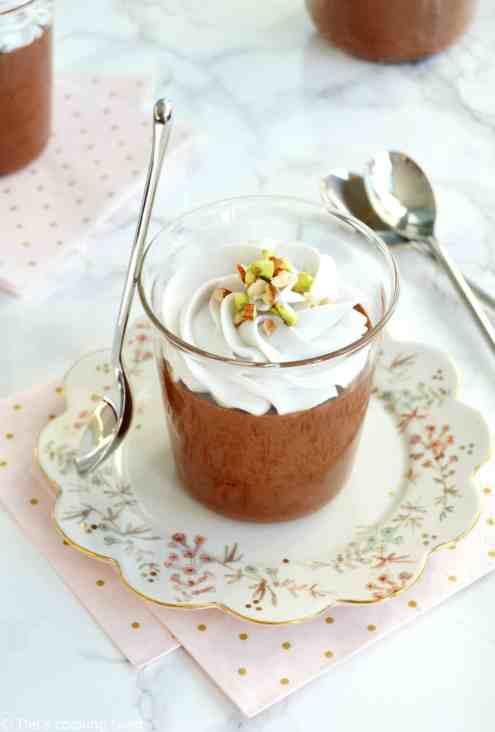 10 idées de recette dessert vegan - mousse au chocolat et chantilly coco