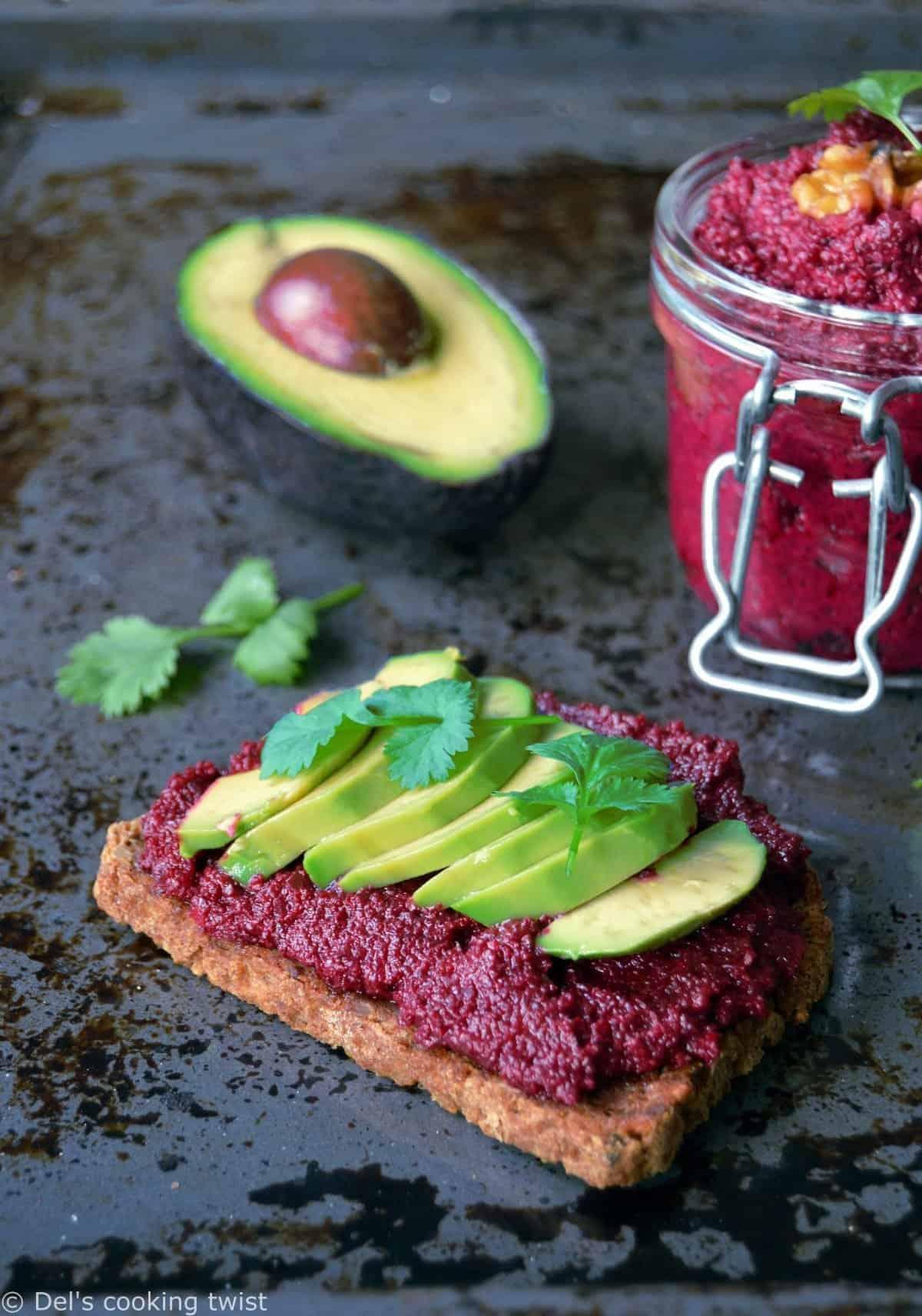 vegan avocado toast with