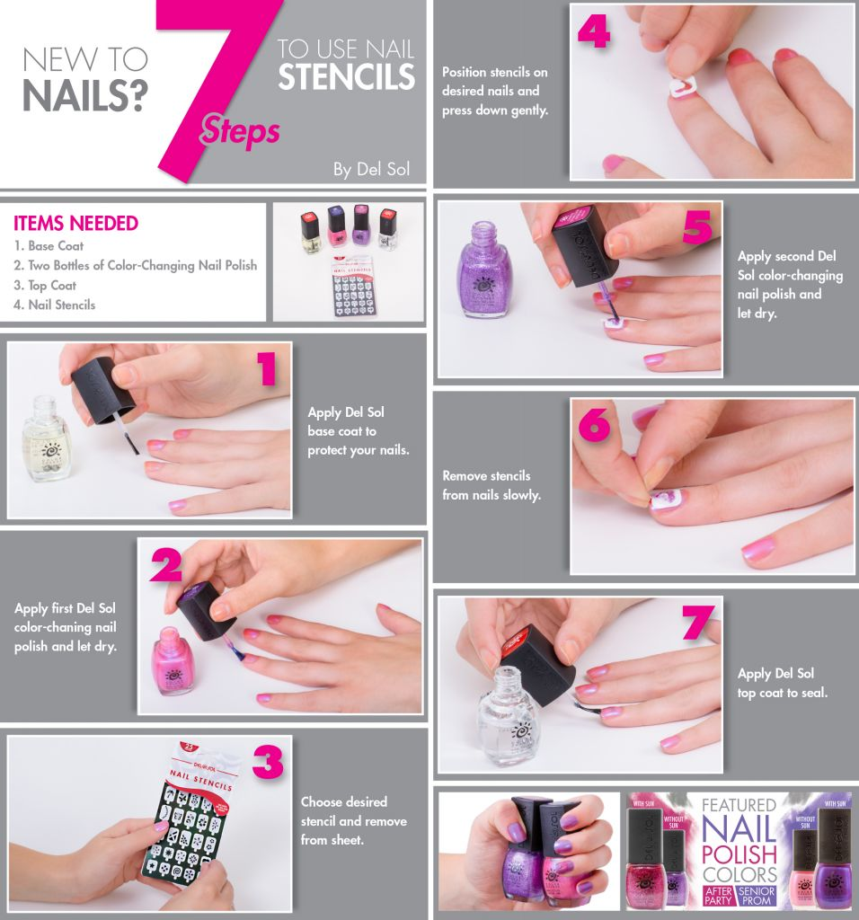 Del Sol Nail Stencils Tips For Application