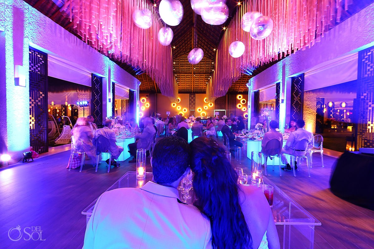 Destination Wedding Travel Agency Playa del Carmen Reception Decoration Paradisus La Perla Photo by Del Sol Photography