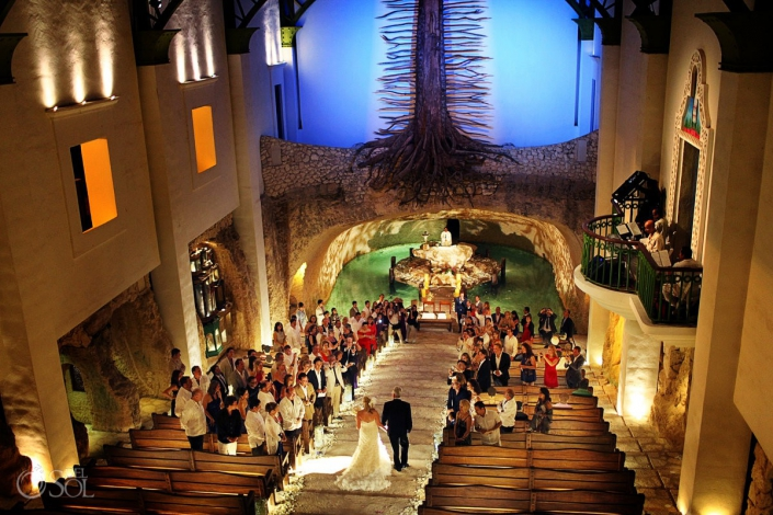 Xcaret Park Wedding Chapel of Guadalupe Playa del Carmen Mexico