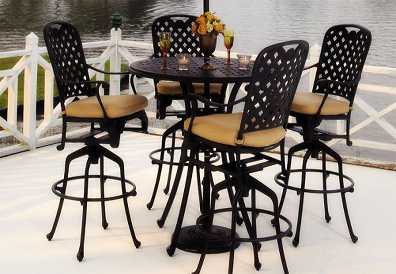 patio bistro table and chairs ergonomic chair back cushion outdoor furniture ideas