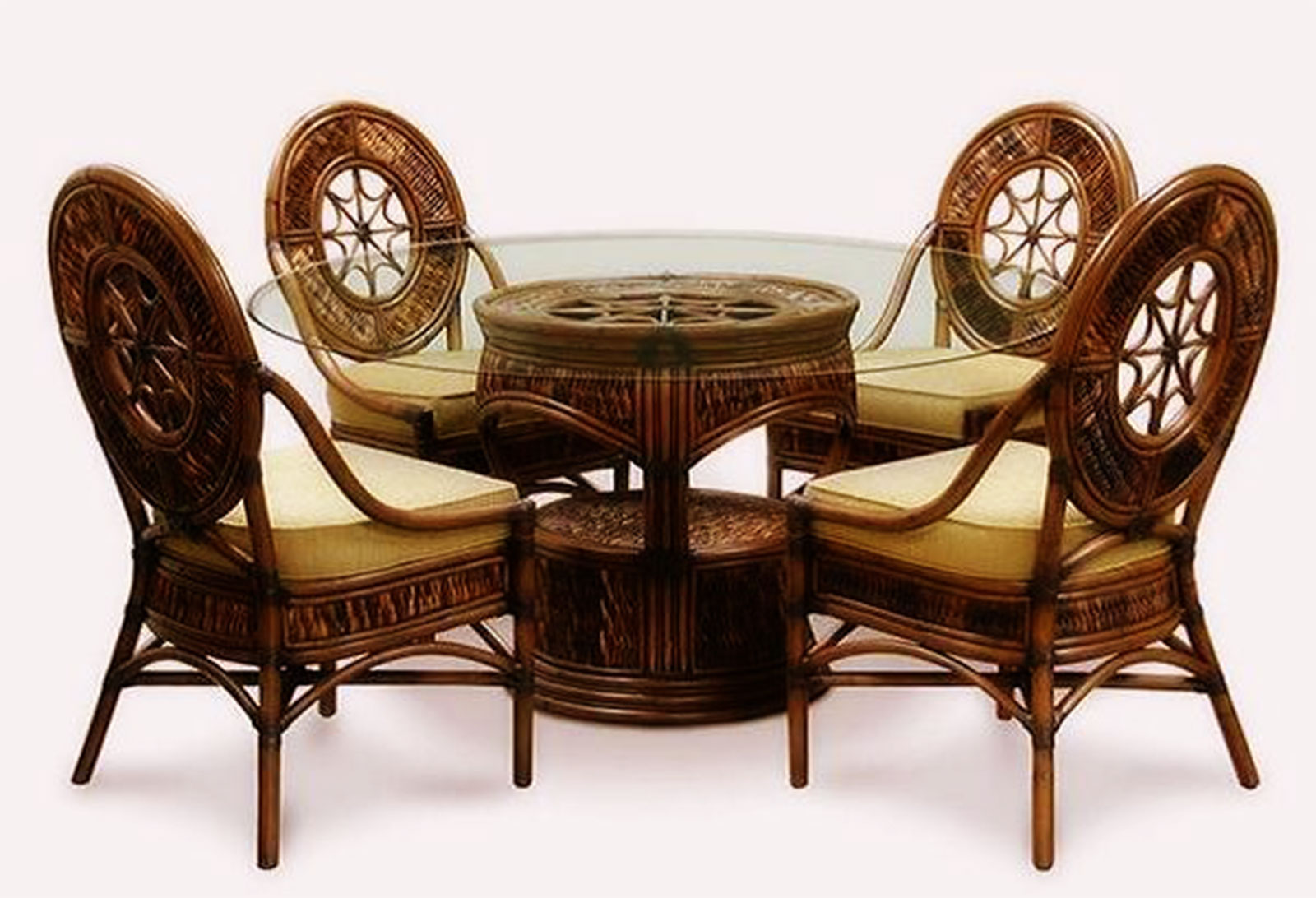 circle glass table and chairs atlanta chair massage cute round top back