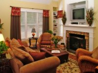 Traditional Living Room In Cinnamon Russet : Furniture ...