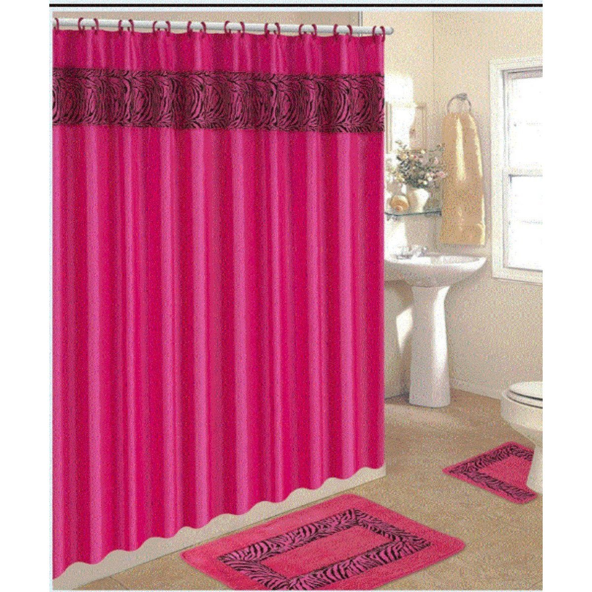 Hot pink shower curtain  Furniture Ideas  DeltaAngelGroup