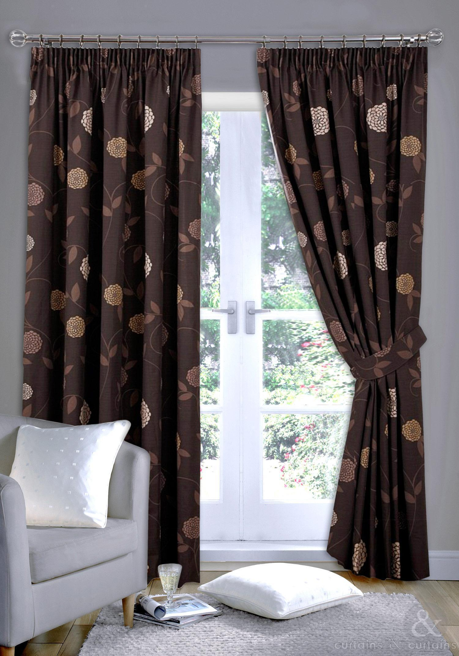 brown curtains : Furniture Ideas
