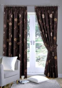 brown curtains : Furniture Ideas