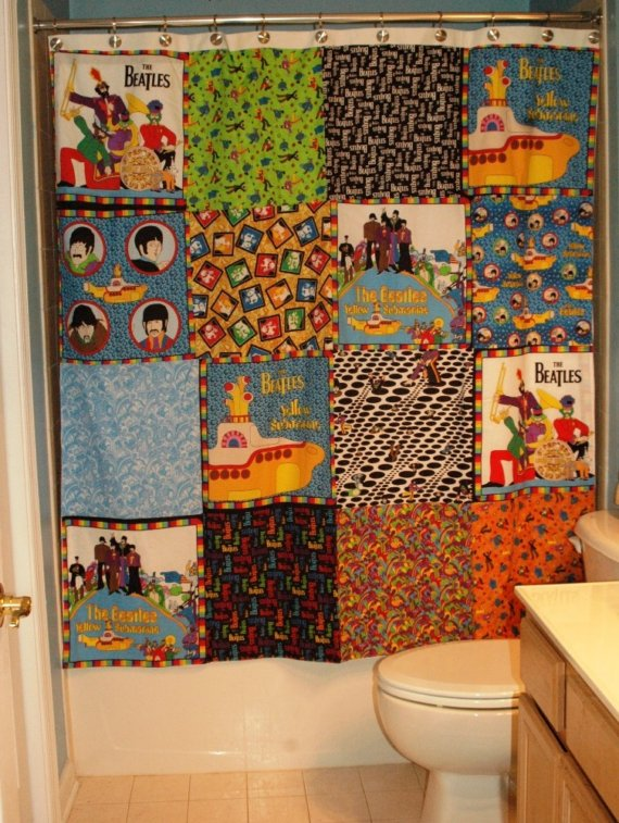 Beatles Shower Curtain Furniture Ideas DeltaAngelGroup