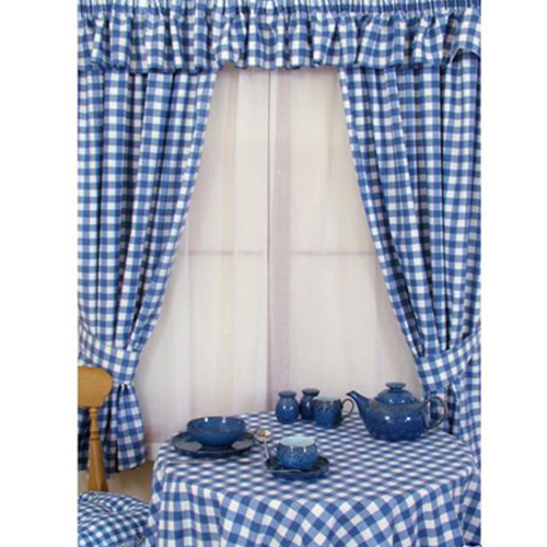 Blue And White Gingham Curtains