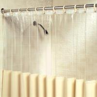 Clear shower curtain with design : Furniture Ideas ...