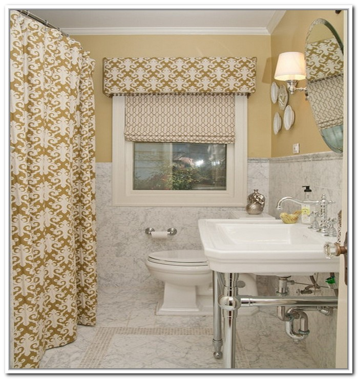 Small bathroom window curtains  Furniture Ideas