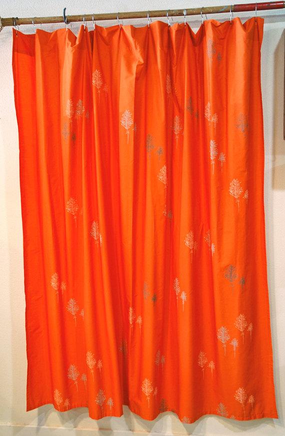 Orange Shower Curtains  Orange Shower Curtain