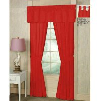 Bright red curtains : Furniture Ideas