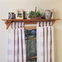 Curtain rod shelf : Furniture Ideas