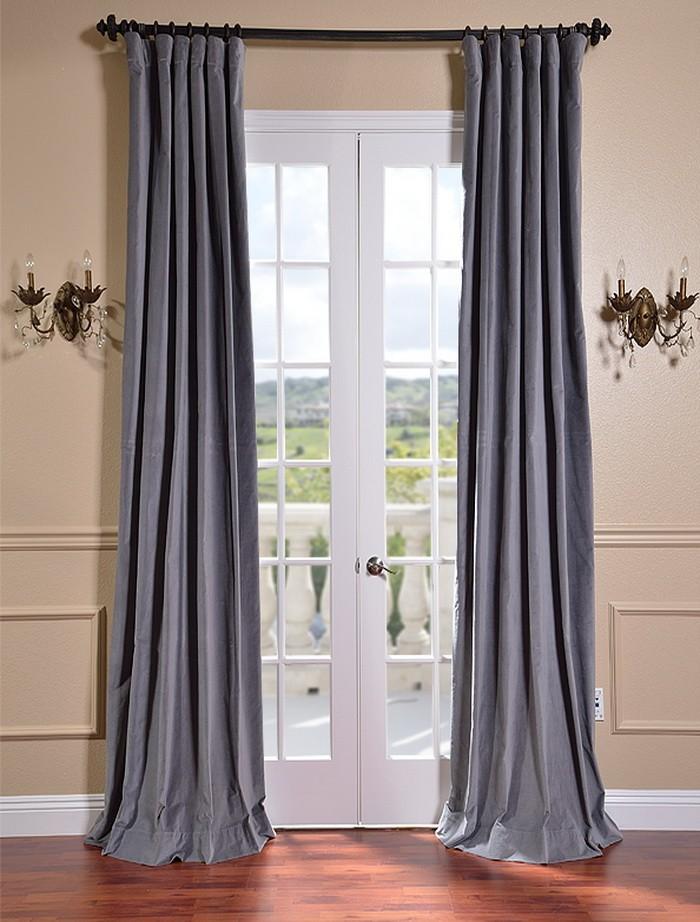 Gray velvet curtains  Furniture Ideas  DeltaAngelGroup