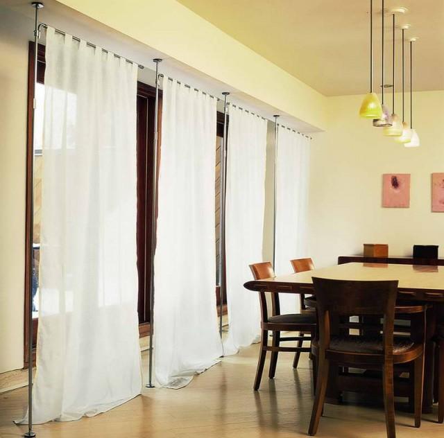 Attractive Hanging Curtain Room Divider Vinterior