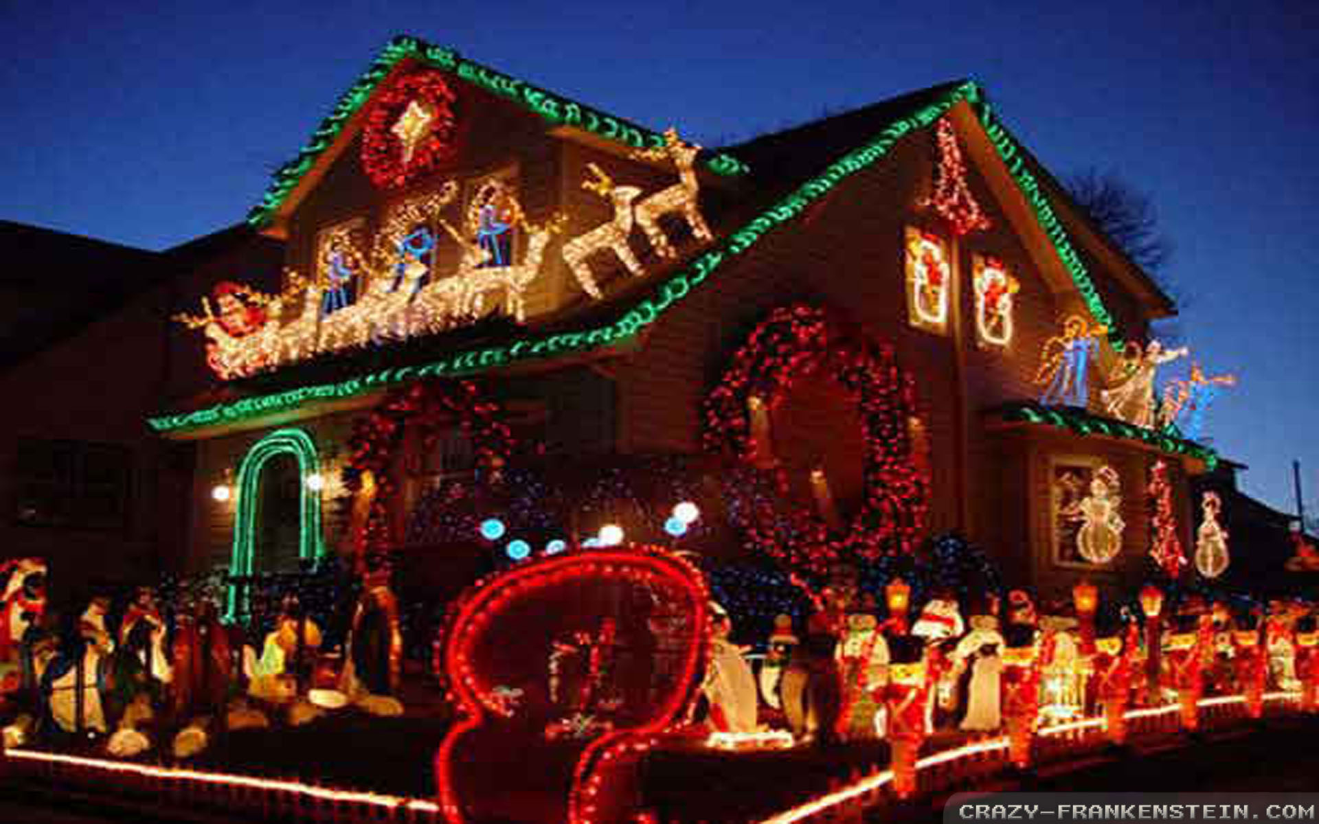 Christmas house outside - Farm House Decorating Ideas