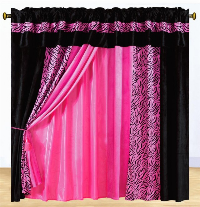 Pink And Black Curtains Furniture Ideas DeltaAngelGroup