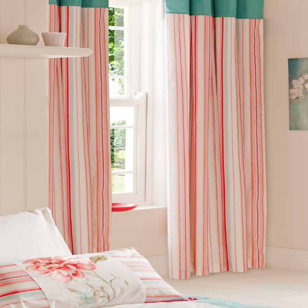 Wonderful Pink Stripe Curtains