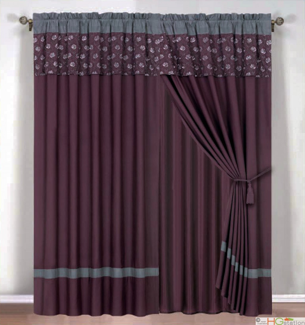 Purple and gray curtains  Furniture Ideas  DeltaAngelGroup