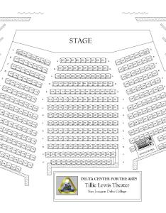 Tillie lewis theater seat map also visit and contact rh deltacollege