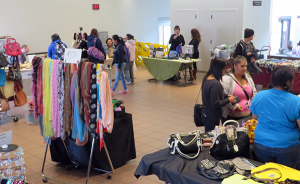 SELLING WARES: Sellers display clothing and accessories in Upper Danner. PHOTO BY JERMAINE DAVIS